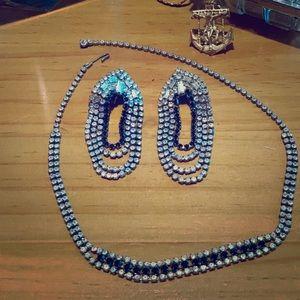 Vintage Weiss Rhinestone jewelry set